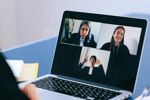 video conference computer screen