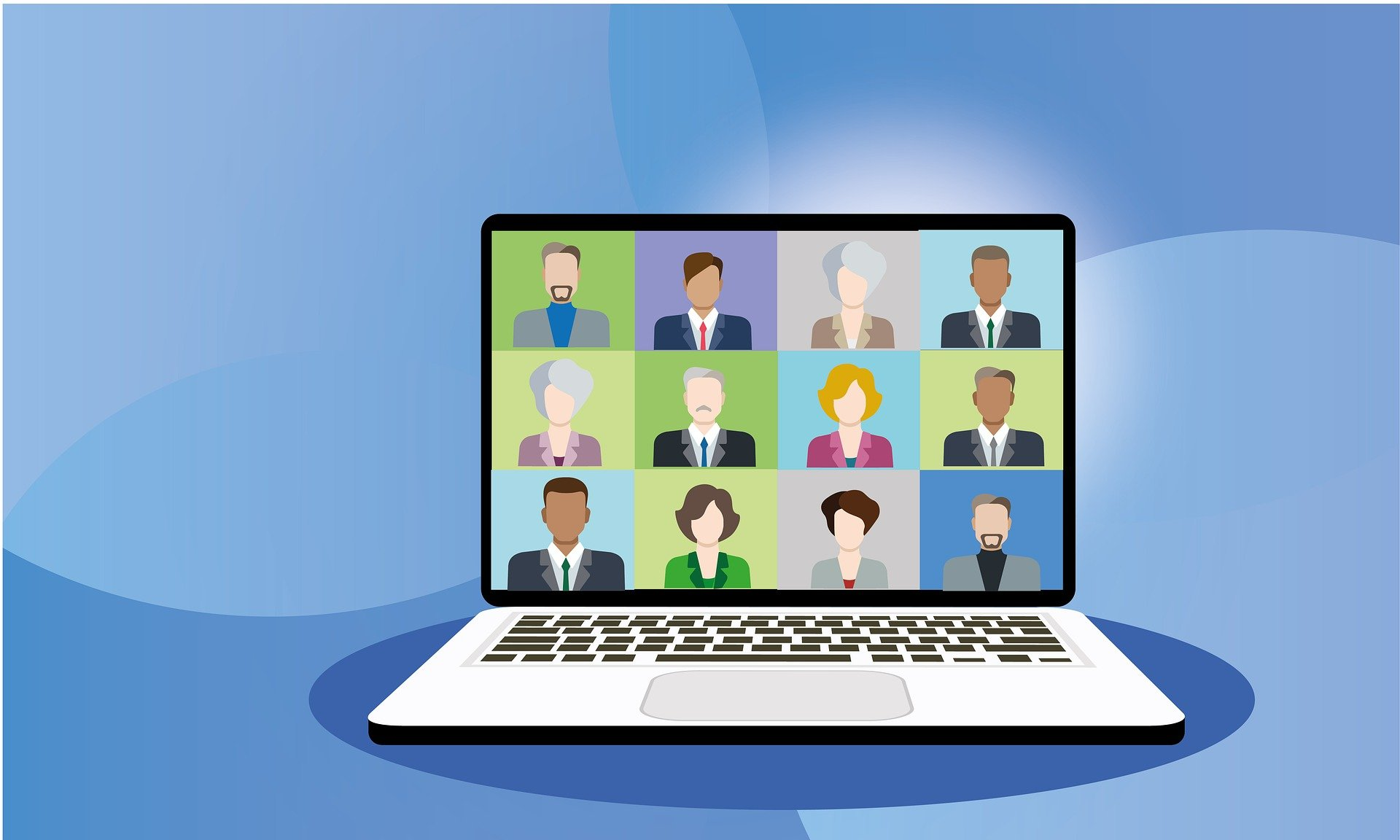 video conference vector art